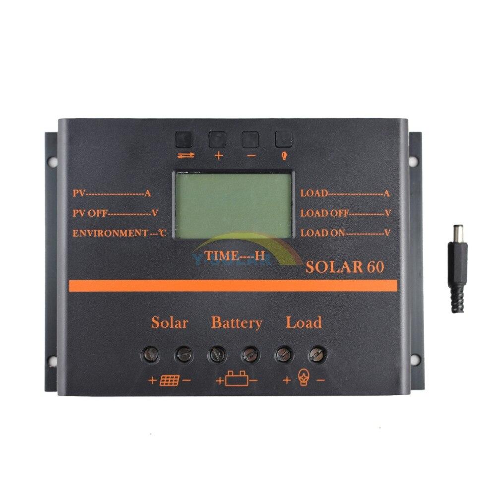 Controlador de carga solar pwm 60a 12v