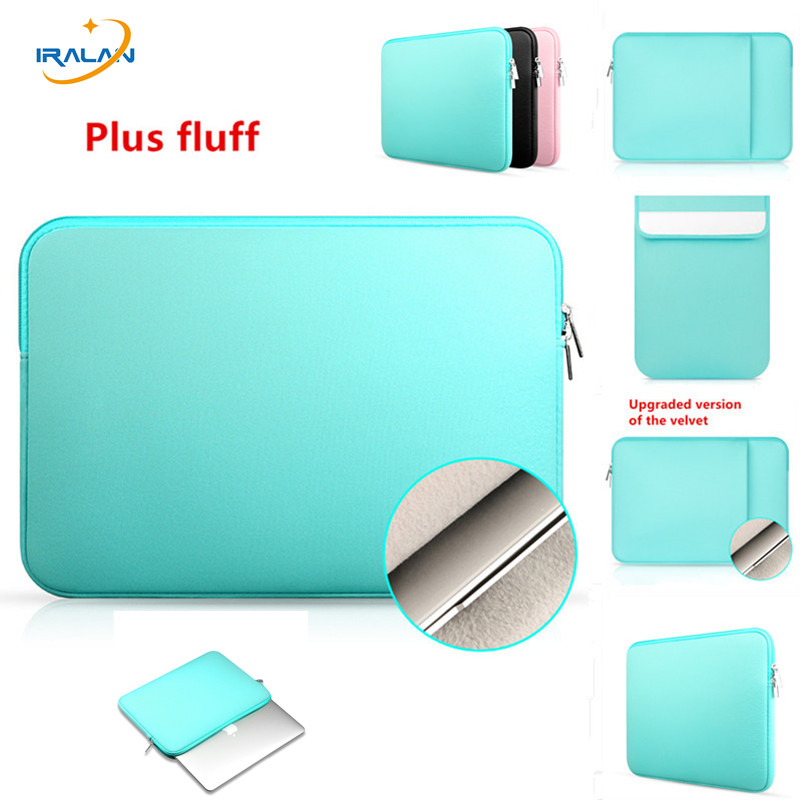 Soft Laptop Sleeve Bag Case For Macbook Air 11 12 14 15 15.6 Pro Retina 11.6 13.3 inch Zipper Bags For Mac Book Pro 13+ fluff