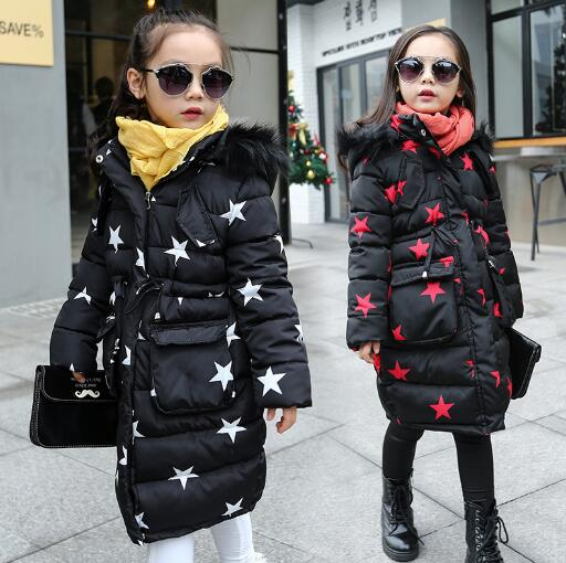 -30degree jackets 2018 New Children Girls winter Jacket big virgin long section cotton warm jacket kid Thick Padded Outwear high quality new winter jacket parka women winter coat women warm outwear thick cotton padded short jackets coat plus size 5l41