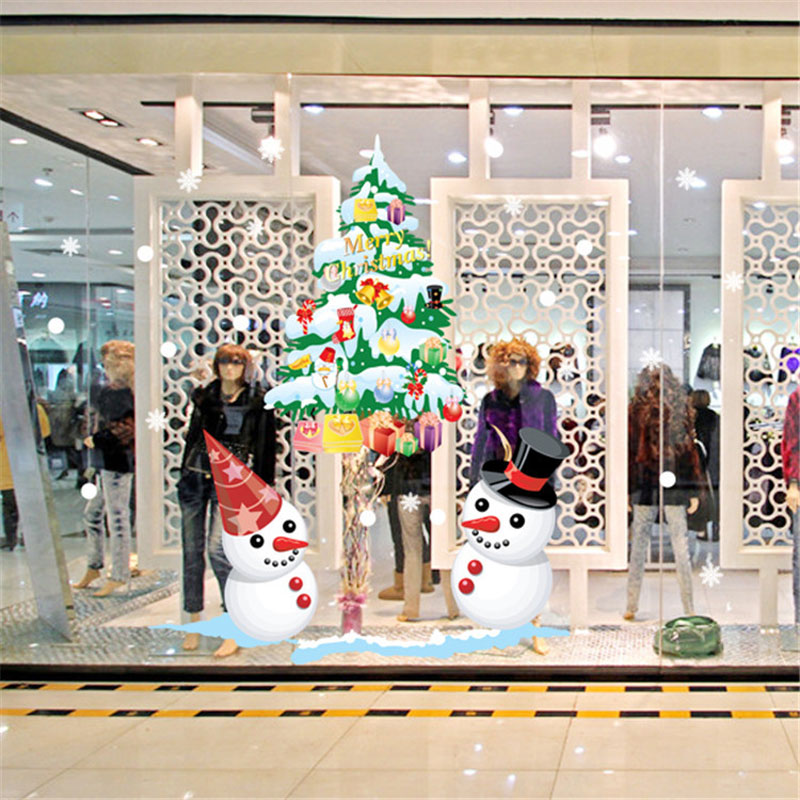 The new shop window snowman christmas tree christmas wall for Christmas home decor stores