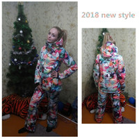 Winte 10K Jackets woman Snowboarding winter sports clothing ski sets Waterproof thick 30 warm suit Jackets + pants