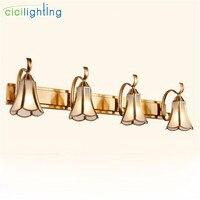 L15cm 35 cm 58 cm 81 cm Vàng Bronze gương lighs Cổ Điển Glass shade Phòng Tắm retro tủ vanity công nghiệp nhẹ ighting lịch thi đấu