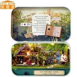 Móveis artesanais casa de boneca diy casa de bonecas em miniatura 3d miniaturas de madeira brinquedos para o natal e presente aniversário v4