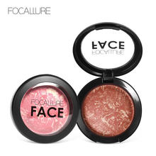 Focallure Face Baked Blush Makeup Palette 6Colors Waterproof Natural Charming Cheek Contouring Highlighter Blusher
