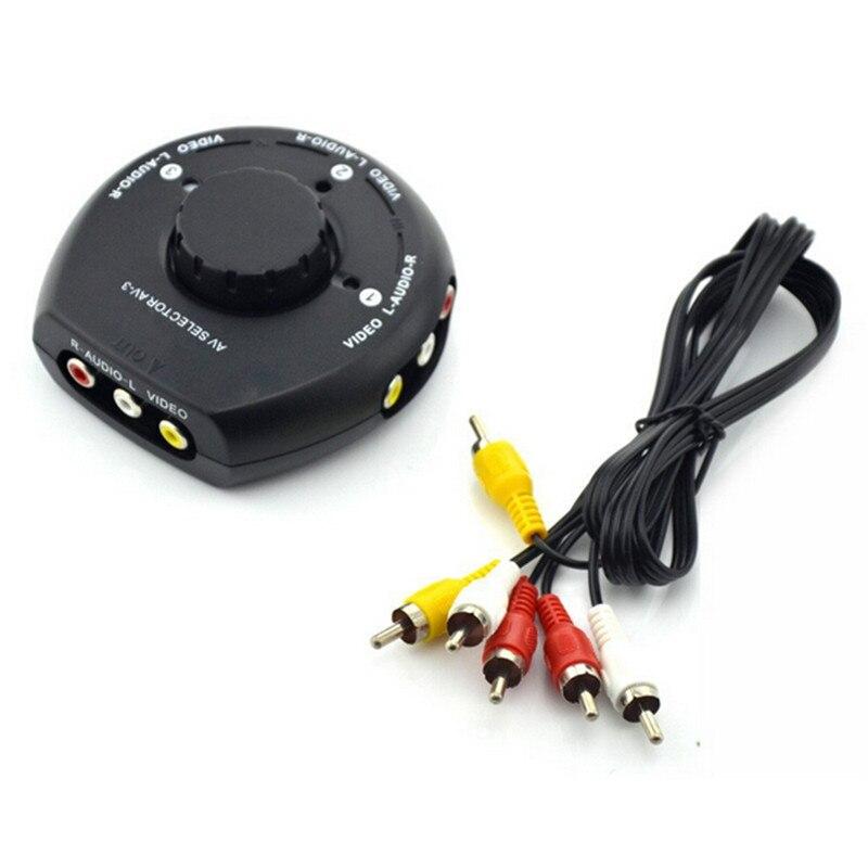 3 Input 1 Output Port rca splitter Audio Video AV RCA