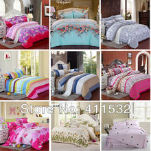 Reactive Print 4Pcs bedding sets luxury include Duvet Cover Bed sheet Pillowcase king/Queen/Full size home textile