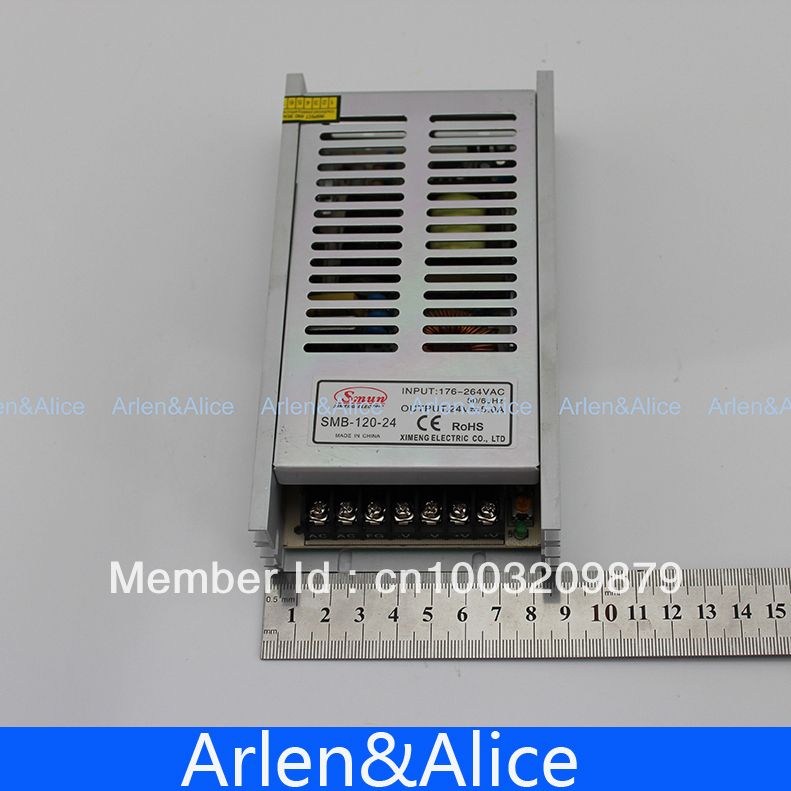 120W 24V 5A Ultra thin Single Output Switching power supply for LED Strip light