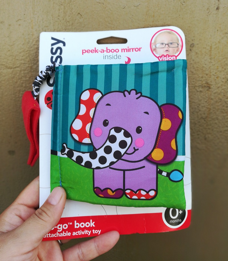 Elephant Baby Cloth Book With Mirror Ring Paper Children Learn