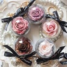 Роза в стекле креативный свадебный подарок сохранить цветок педант висячий брелок жемчужный браслет вечная роза