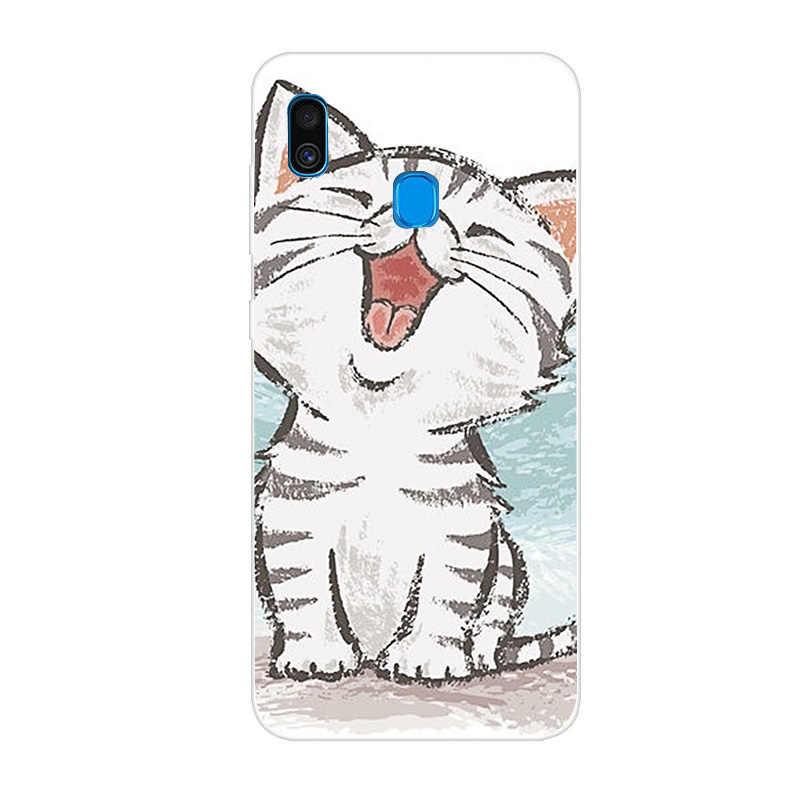 Кот силиконовый чехол для samsung Galaxy A30 A305F A305 мягкие 3D живопись для A50 A505 A505F A7 2018 S10 E Lite плюс крышка Fundas