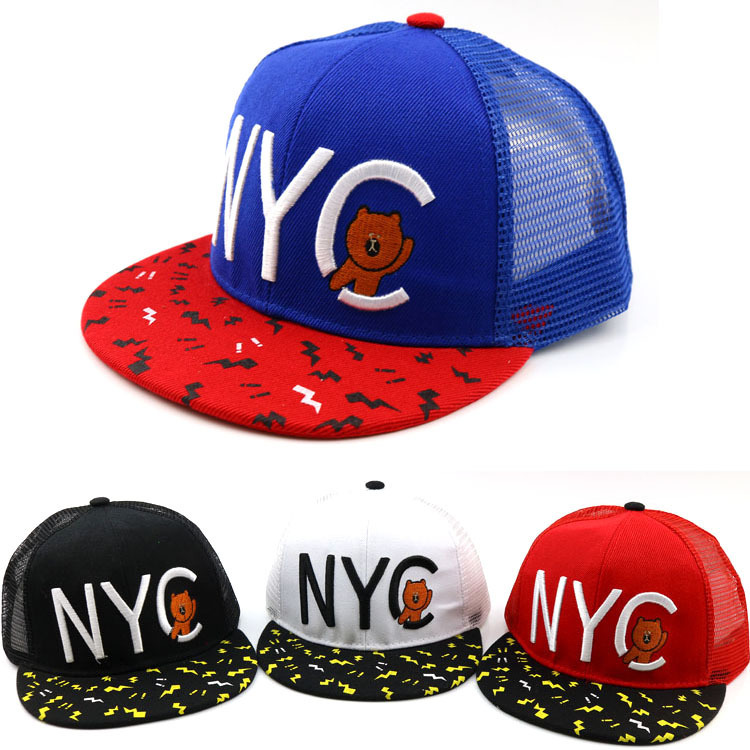 Summer Hat Casquette Snapbacks Baseball-Cap Embroidery Fashion Cartoon Children for Boy