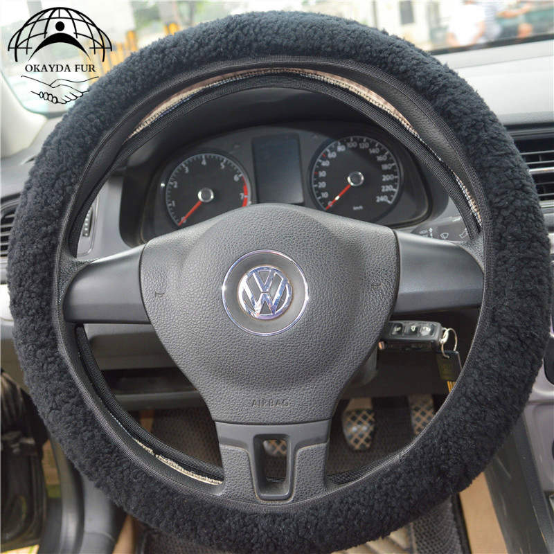 okayda steering wheel cover fur wool universal anti slip functionokayda steering wheel cover fur wool universal anti slip function easy install sheepskin winter warm fit most cars hipping free in steering covers from
