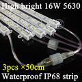 3pcs/lot 50cm 36 LED SMD 5630 Waterproof ip68 Hard Rigid Strip outdoor use strip,led lighting box, advertisement box