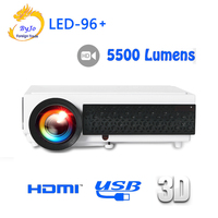 Poner Saund светодио дный 96 + светодио дный проектор 1080 P 5500 lums подарок 10 м Кабель HDMI или SD карты домашнего кинотеатра proyector 3D проектор bt96