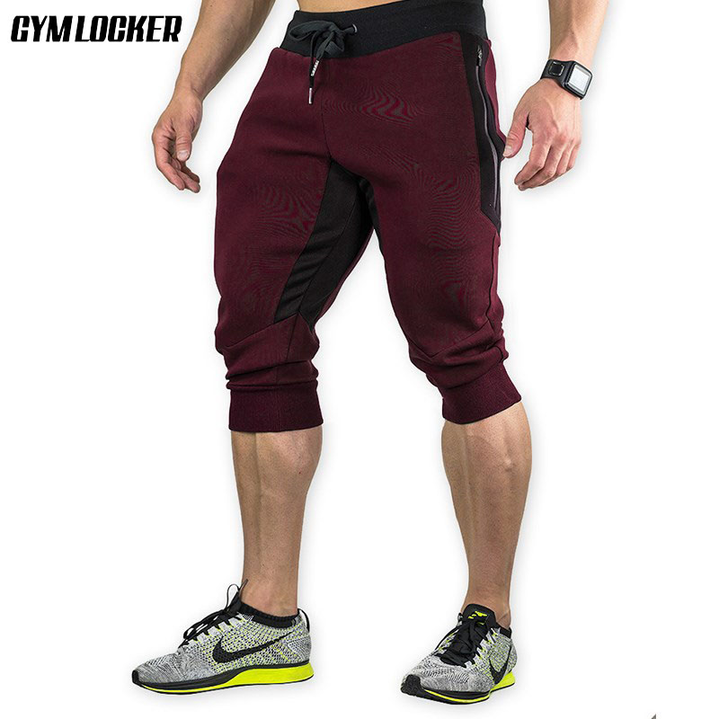 GYMLOCKER 2018 Cotton Men Shorts Summer Men Casual Elastic Men Casual Short Pants Bermuda Masculina