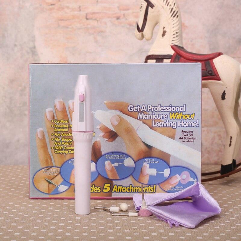 5 En 1 Eléctrico Simulacros de Manicura Pedicura Belleza de Uñas ...