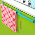 Guaranteed 100% Shower Curtain Poles Towel holder for kitchen Cupboard door Green blue Multifunctional back door towel rack