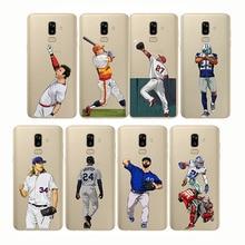 soft silicone phone cases cover baseball cartoon Bryce Harper for Samsung  J3 J4 J6 J7 J8 2018 Plus J5 2017 2015 Prim