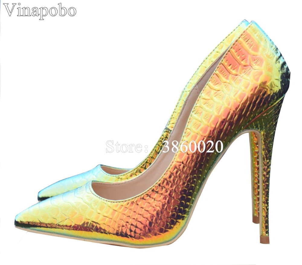 Vinaphone Colorful 12cm 10cm 8cm 6cm Snake pointed toe prom party sexy shoes woman big size
