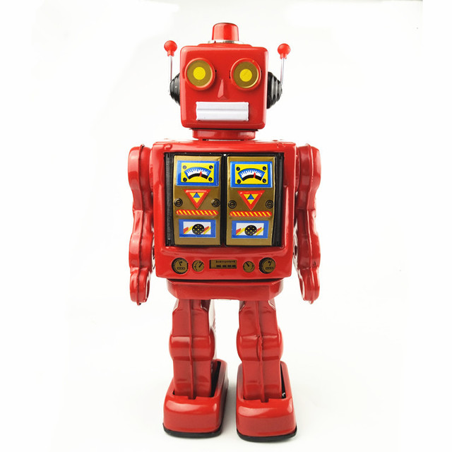 Cool Toys For Grown Ups : Cool tin toys wind up robots iron metal models for