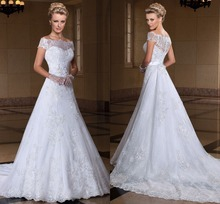 Lovely Sweetheart Wedding dress VERNASSA with Appliques Floor Length vestidos de noiva Lace Dresses