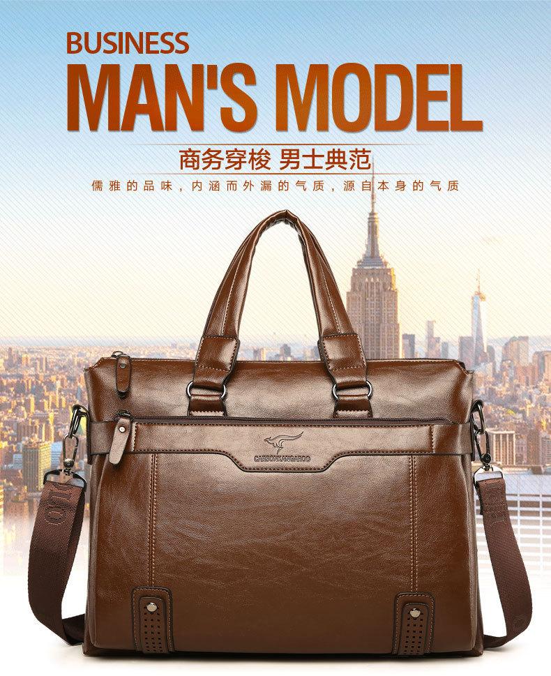 US $34.99 49% OFF|Nowa torebka do pracy w biurze pakiet pojedyncze ramię torba mężczyźni skórzane odzież skórzana teczki projektant luksusowe torebki