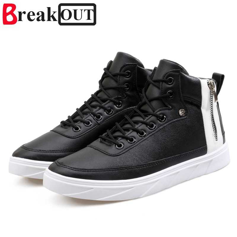 Break Out New Men Casual Shoes for Men PU Leather Shoes for Men High Top Breathable Fashion Men Shoes видеоигра для ps4 until dawn rush of blood только для vr page 7
