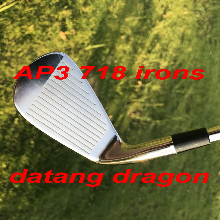2018 datang dragon golf irons AP3 718 irons forged set ( 3 4 5 6 7 8 9 P) with dynamic gold S300 steel shaft 8pcs golf clubs right hand golf clubs dance with dragon forged iron set silve black golf forged irons 3 9pw golf head no shaft