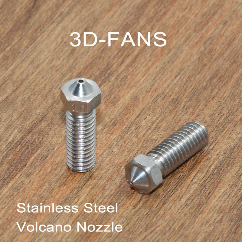 1Pc 3D Printer Parts Volcano Nozzle With Lettering Large Diameter Stainless Steel 0.2/0.3/0.4/0.5/0.6/0.8/1.0/1.2mm