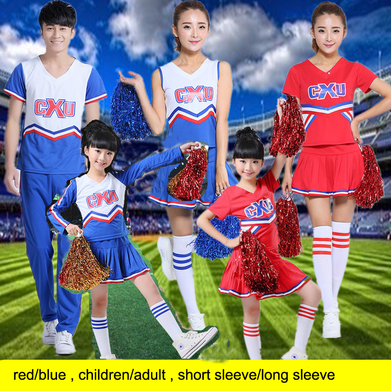 Children kid high school student girl cheerleader cheerleading dance costume clothes jersey aerobics clothing skirt