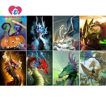 diamond mosaic icons of embroidery painting dragon with diamonds Icons rhinestones cartoon pictures