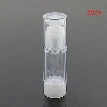 Hot 50ML clean airless bottle, plastic lotion vacuum bottle with airless pump ,50 ml Refillable Bottles CONTAINER FOR COSMETIC
