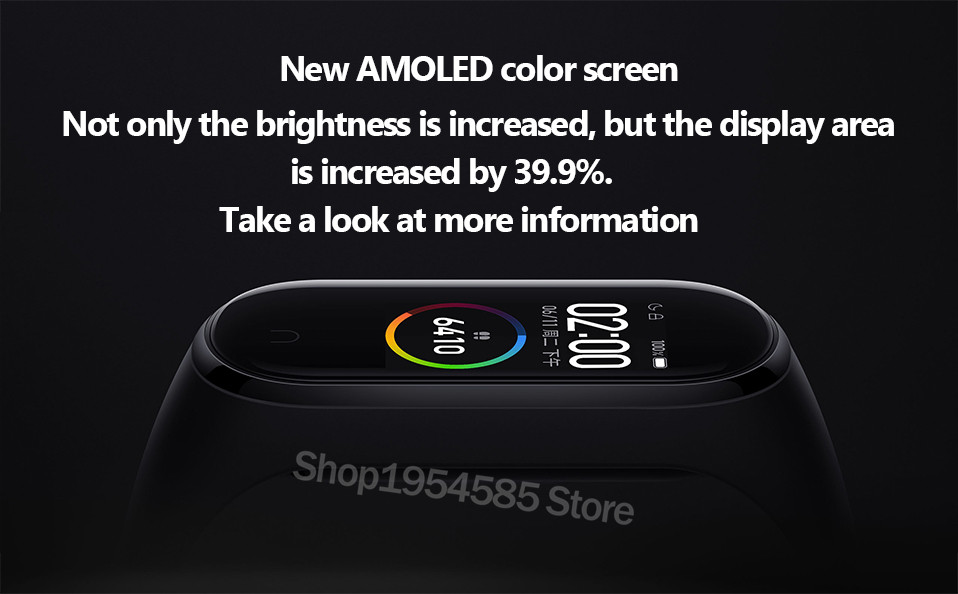 Xiaomi Mi Band 4 Smart Watch Standard Version Heart Rate Activity Fitness Tracker Smart Band Bracelet Colorful Display 2019 New (18)