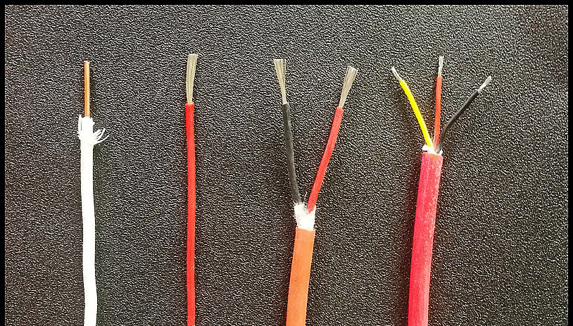 High temperature 200 degree double stranded silicone wire flame retardant fire resistant high temperature 3 core resistant wire.