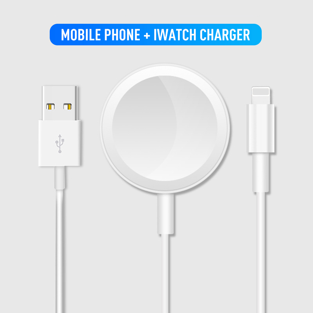2 In 1Wireless Charger for AirPods Apple Watch Charger for Apple Watch Series 4/3/2/1 Upgrade Version Fast Charging for IPhone(China)