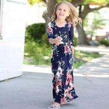 2018 Summer Kids Dresses Children Girls Short Sleeve Floral Princess Dress Spring Girl Beach Party