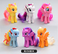 6pcs/lot Twilight Sparkle Rainbow Dash Apple Jack Fluttershy Rarity Kunai Horse Unicorn Action Toys Figure Christmas Little Gift