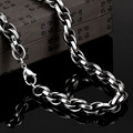 New single chain fashion men long statement necklace jewelry 316L titanium steel Twisted chain vintage men fine jewelry 2016 L65