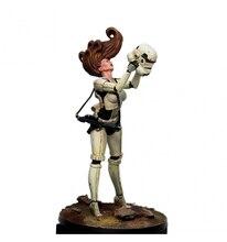 Figura de resina 1/24 75mm, kit de figuras de resina vixen star com base desmontada não pintada