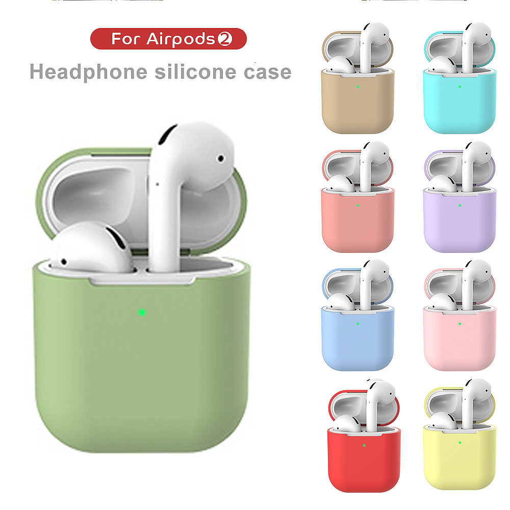 Airpod 2 Case For Apple AirPods 2 Air Pods Cover Accessories Ear Pads Silicone Sticker Bags I10 Tws Skin Key Ring Airpods2 Cases