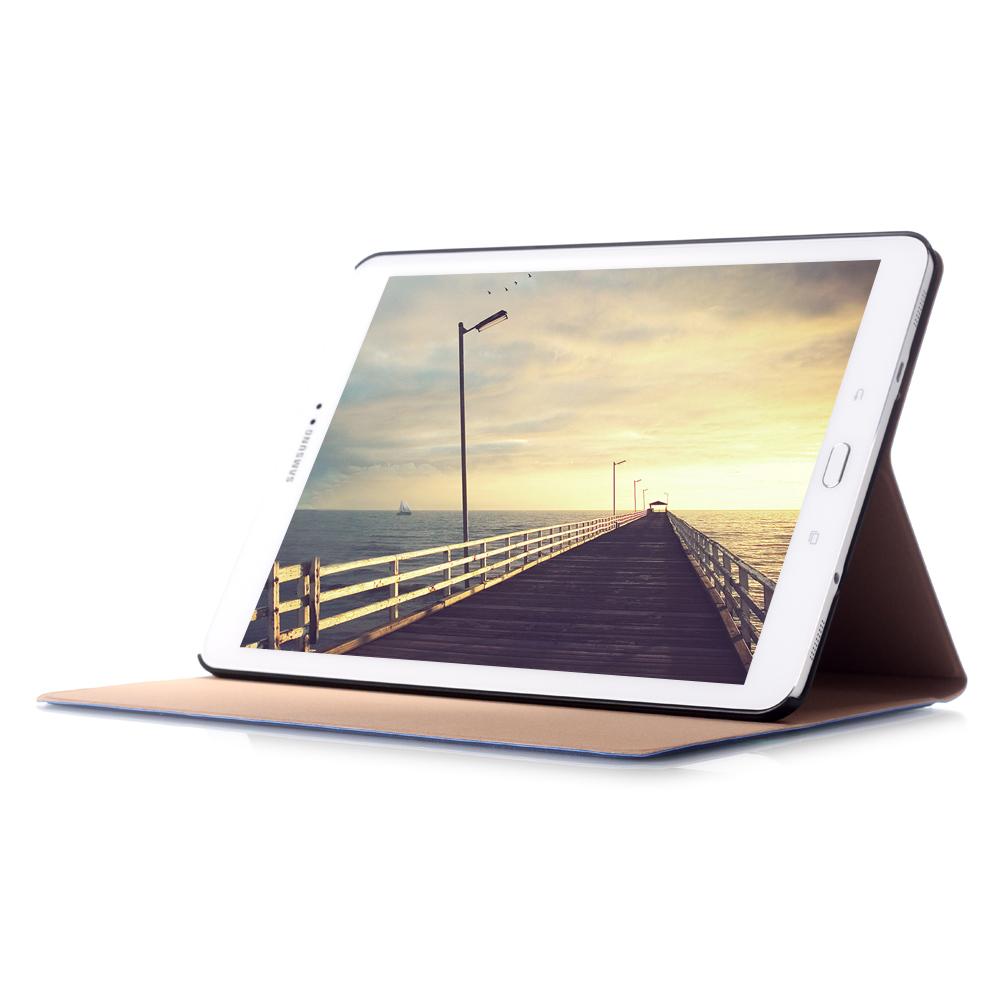 Tri-Folding PU Leather Case For Samsung Galaxy Tab S2 9.7 SM-T810 SM-T815 SM-T813 SM-T819 Smart Cover Auto Wake-Sleep