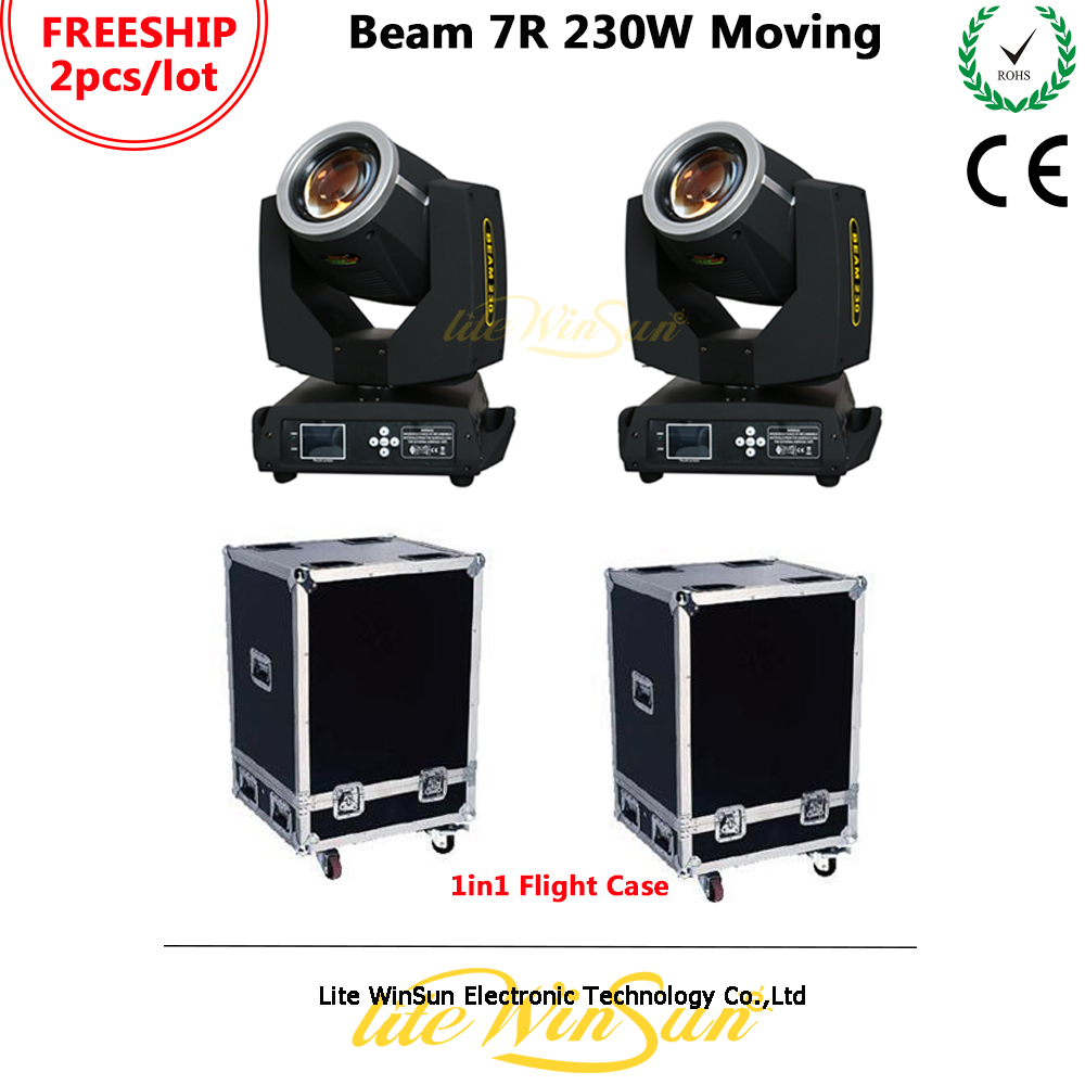 цена на Litewinsune Freeship 2PCS Flight Case Sharp Beam Moving Head Light 230W 7R Moving Head 230 Light