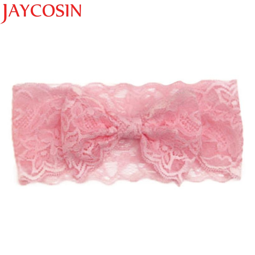 JAYCOSIN Headbands New Fashion Fashion Girls Lace Big Bow Hair Band Children Head Wrap Headwear Band Accessories Drop Shipping цена