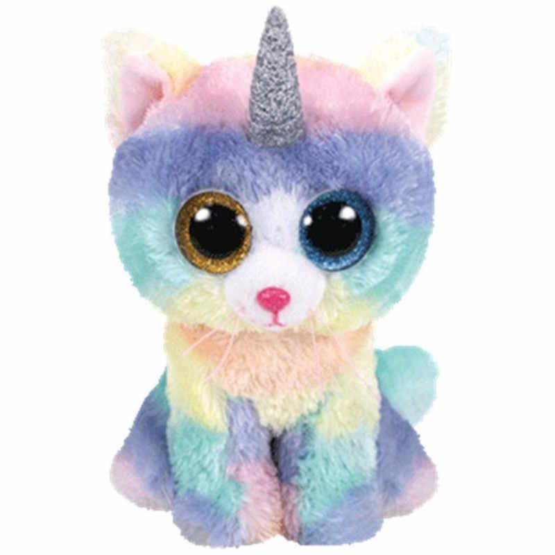 15 centímetros Oferta Especial Cão Vaias Ty Gorro Olhos Grandes Coruja Azul Unicorn Bat Alpaca Stuffed Animal Plush Boneca Boneco de Neve bonito Stuffed Miúdo Para
