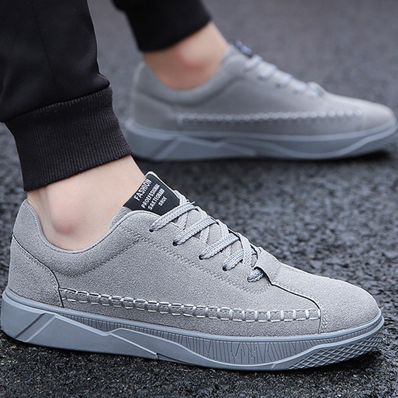 Men's Vulcanize Shoes lace-up solid shallow fashion male sneakers cotton fabric comfortable man shoes 2018 sapatos