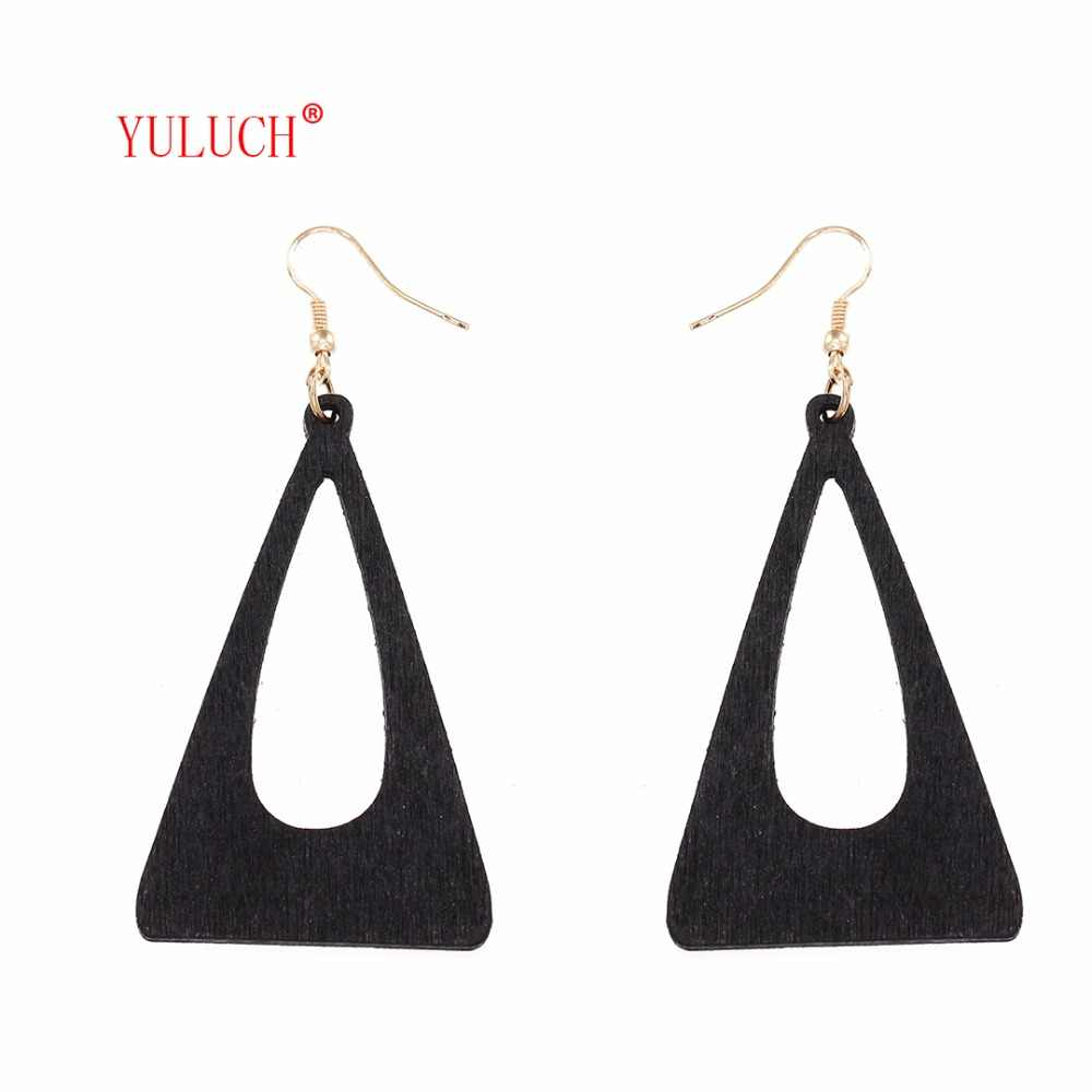 YULUCHSimple Hollow out Pendant Earrings for Girls Oval Hole Accessories Elegant Woman Jewelry Daily Gift M0033