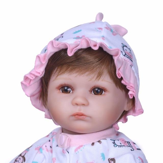 Handmade Dolls Reborn Silicone Realistic Bonecas Baby Girl Toys 3