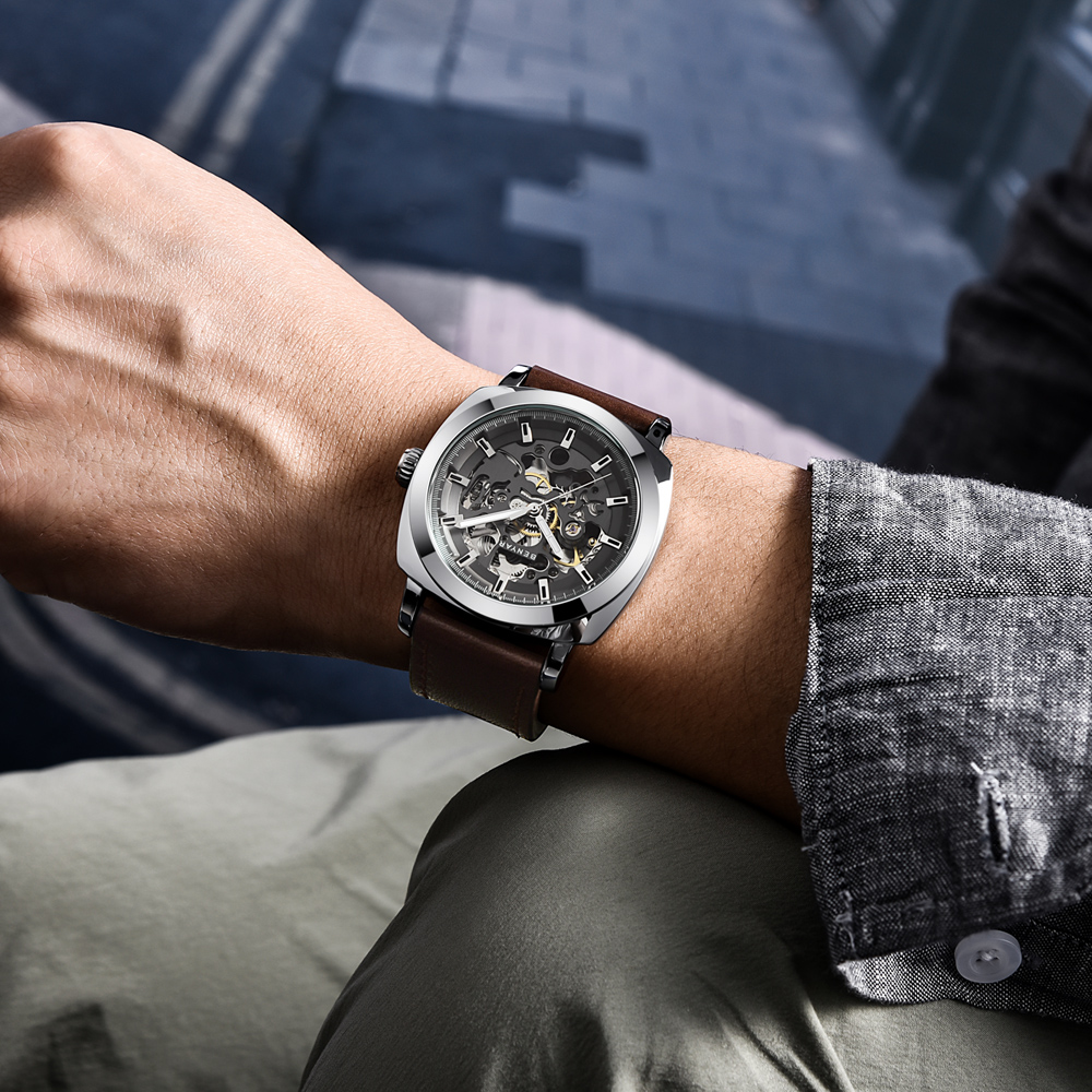 Men Fashion Watches Mechanical-Watch Business Sports BENYAR Automatic Luxury Brand Waterproof title=