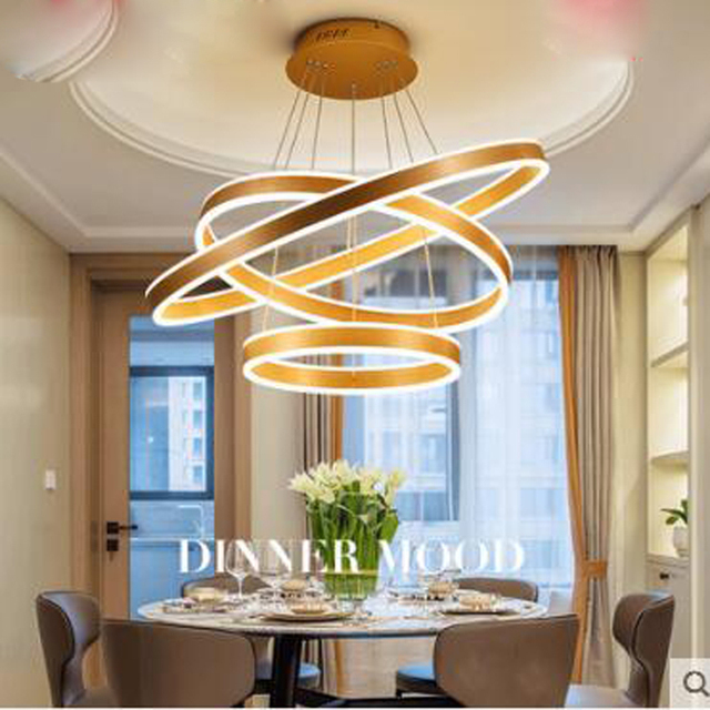 Postmodern Chandelier Creative Personality Modern Minimalist Dining Table Restaurant Three Round Home Room Led