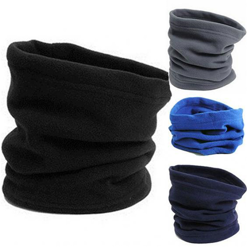 Fashion Hiking Camping Scarf Face Mask For Women Men Outdoor Snood Neck Gaiter Warm Polar Fleece Winter Scarf Hats